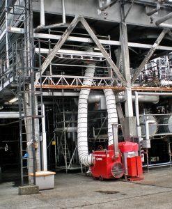 Teplovzdusny naftovy kotol